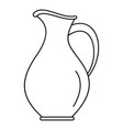 water jug icon outline style vector image