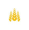 wheat grain agriculture logo design inspiration vector image vector image