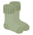 winter socks on white background vector image