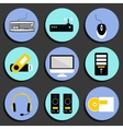 Business Computer Icons Set vector image