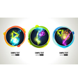 Light Effect in Round Frames vector image