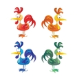 Set of cocks isolated on white background vector image