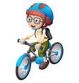 A young man biking vector image vector image