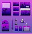 astronomy day template design set night sky with vector image vector image