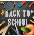 Back to school chalk drawing template with schools vector image