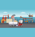 background of petroleum industry oil vector image