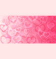 background with blurry hearts vector image