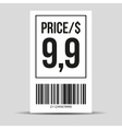 Barcode label - price tag vector image