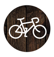bike on wooden board vector image