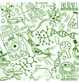 Biology drawings vector image