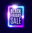black friday sale neon banner modern background vector image vector image