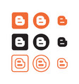 blogger social media icons vector image