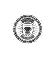 boxing club logo brand icon with box helmet vector image