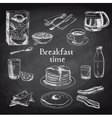 breakfast hand drawn set Vintage vector image vector image
