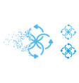 broken pixelated halftone knot rotation icon vector image