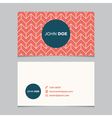 business card pattern red 04 vector image vector image
