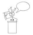 cartoon fool man businessman or politician vector image vector image