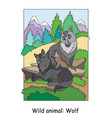 children colorful wolf for coloring vector image