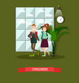 children concept in flat style vector image vector image