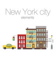 city elements of new york vector image vector image