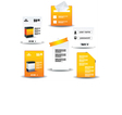 Collection Of Website Elements vector image