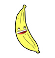 comic cartoon happy banana