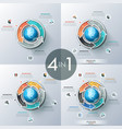 concept of global cyclical process vector image