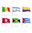 country flags realistic set vector image vector image