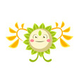 cute fantastic flower character nature element vector image vector image