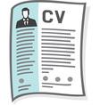 CV Icon vector image vector image