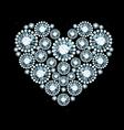 Diamond Heart vector image vector image