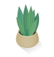 Flower in Pot Icon Green Nature Leaf Gardening vector image vector image