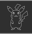 fun mascot line art vector image vector image