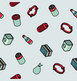 garbage color outline isometric pattern vector image vector image