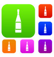 glass bottle set color collection vector image vector image