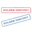 golden century textile stamps vector image vector image