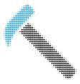 hammer halftone icon vector image vector image