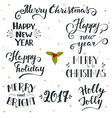 Hand drawn Christmas and New Year holiday vector image vector image