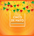 happy fifth may mexican card or poster design vector image vector image