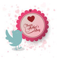 happy mothers day invitation bird heart decoration vector image vector image