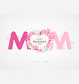 happy mothers day message mom background vector image