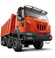 heavy construction truck vector image vector image