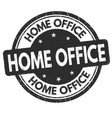 home office grunge rubber stamp vector image vector image