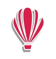 hot air balloon pictogram image vector image