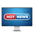 Hot news TV screen vector image
