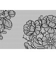 lace ornamental background with flowers vector image vector image