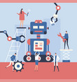 making a robot - flat design style vector image vector image