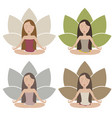 meditating girls vector image