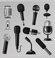 microphone sound music audio voice mic vector image vector image