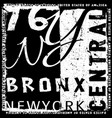 new york graphic typography design vector image vector image